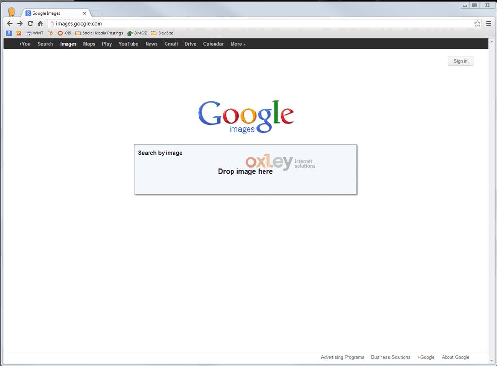 Drag n Drop - Google Reverse Image Search